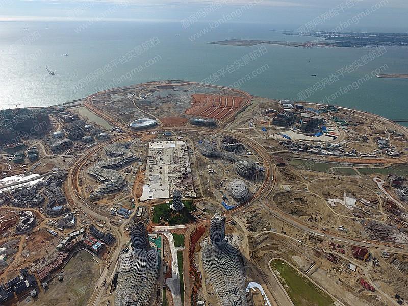 恒大海花岛最新进度:61栋高层建筑已封顶 工程量约完成46.1%